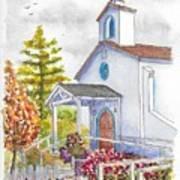 St. Anthony's Catholic Church, Mendocino, California Art Print