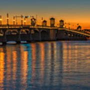 St Augustine Bridge Of Lions Sunset Dsc00433_16 Art Print