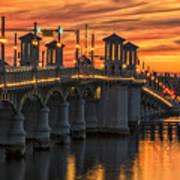 St Augustine Bridge Of Lions Sunset Dsc00565_16 Art Print