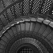 St. Augustine Lighthouse Spiral Staircase I Art Print
