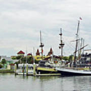 St Augustine Marina From The Water Art Print