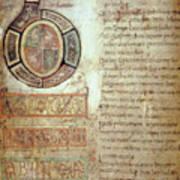 St. Bede, Manuscript Art Print