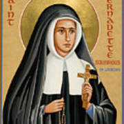 St. Bernadette Of Lourdes - Jcbsl Art Print