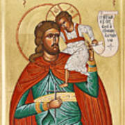 St Christopher Print by Julia Bridget Hayes