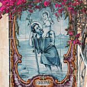 St Christovao -st Christopher Art Print