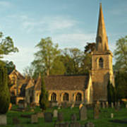 St Davids Church Cemetery 3 Art Print
