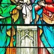 St. Edmond's Church Stained Glass Window - Rehoboth Beach Delaware Art Print