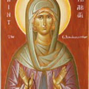 St Elizabeth The Wonderworker Print by Julia Bridget Hayes
