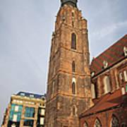 St. Elizabeth's Church Tower In Wroclaw Art Print