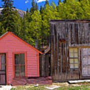 St. Elmo Pink House And Barn Art Print