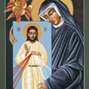 St Faustina Kowalska Apostle Of Divine Mercy 094 Art Print