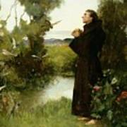 St. Francis Print by Albert Chevallier Tayler