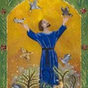 St. Francis And Birds Art Print