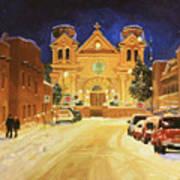 St. Francis Cathedral Basilica  Art Print by Gary Kim