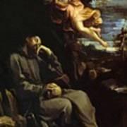 St Francis Consoled Art Print