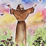 St Francis Of Assisi Print by Regina Ammerman