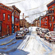 St Henri Depanneur Canadian Paintings Mini Montreal Masterpieces For Sale Petits Formats A Vendre  Art Print