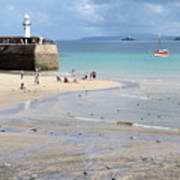 St. Ives, Harbour Beach Art Print