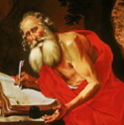 St. Jerome In The Wilderness Art Print