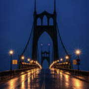 St Johns Bridge Shine Art Print