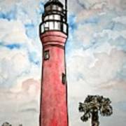 St Johns River Lighthouse Florida Art Print