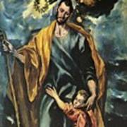 St Joseph And The Christ Child 1599 Art Print