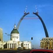 St. Louis Arch Construction Art Print