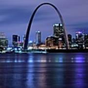 St Louis Black N Blue Art Print