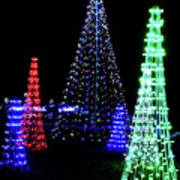 St Louis Botanical Gardens Christmas Lights Study 4 Art Print