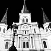 St. Louis Cathedral Drama In New Orleans Art Print