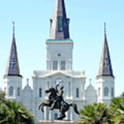 St. Louis Cathedral From Jackson Square Art Print