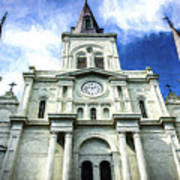 St. Louis Cathedral - Nola- Art Art Print
