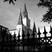 St Louis Cathedral  Art Print