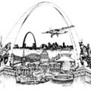 St. Louis Highlights Version 1 Art Print