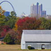 St Louis Skyline From Illinois Art Print