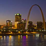 St Louis Skyline From Poplar Street Bridge Art Print