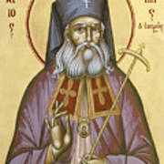 St Luke The Surgeon Of Simferopol Print by Julia Bridget Hayes