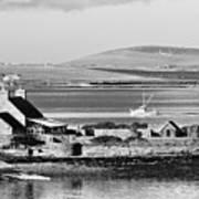 St. Margarets Hope, Orkney.    Black And White Art Print