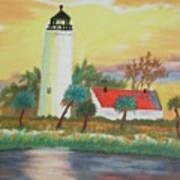 St Marks Lighthouse Fl 3 Art Print
