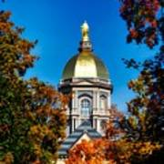St Mary Atop The Golden Dome Of Notre Dame Art Print
