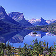 St Mary Lake Glacier National Park Mt Art Print