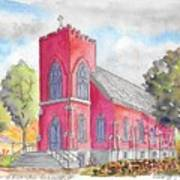 St. Mary's Catholic Church, Oneonta, Ny Art Print