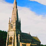 St Mary's Church, Studley Royal  Art Print