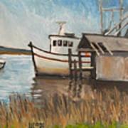 St Mary's Shrimp Boat  Art Print