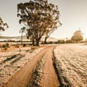 St Marys Winter Country Road Art Print