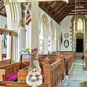 St Mylor Cross Reflections Art Print