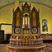 St Olafs Kirke Pulpit Art Print