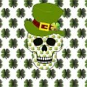 St Paddys Skull  Art Print