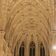 St. Patrick's Cathedral - Detail Of Main Altar's Ceiling Art Print