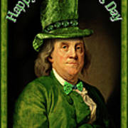 St Patrick's Day Ben Franklin Art Print